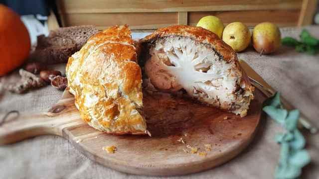 Coliflor Wellington, perfecta para los vegetarianos