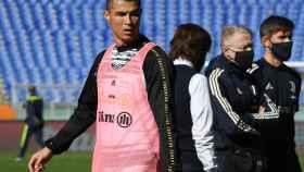 Cristiano Ronaldo durante un entrenamiento de la Juventus