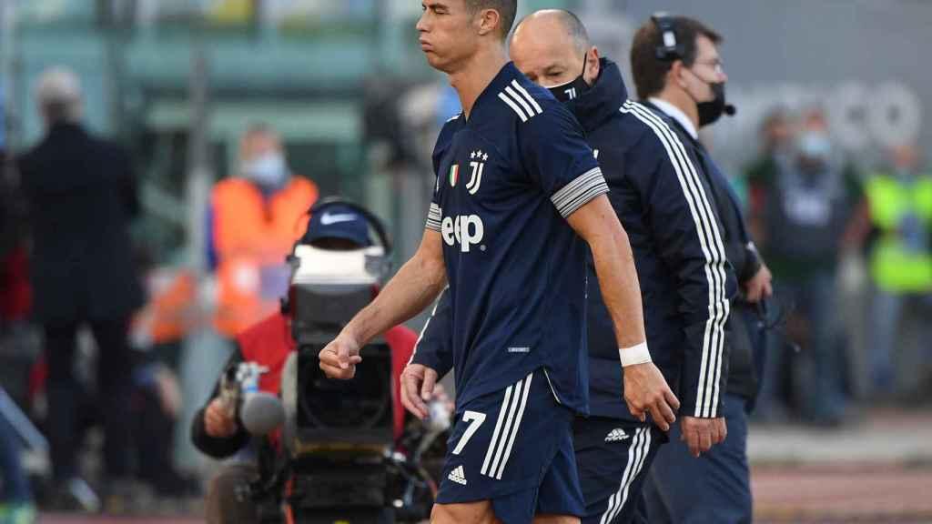 Cristiano Ronaldo se retira del partido de la Juventus