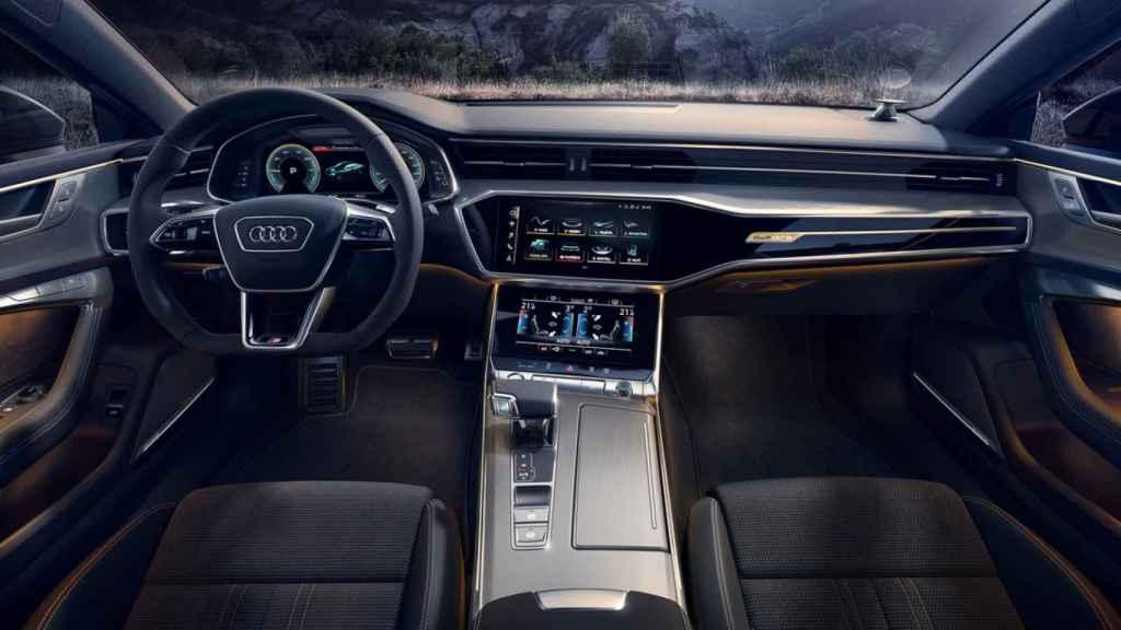 Sistema de navegación en el Audi A7.