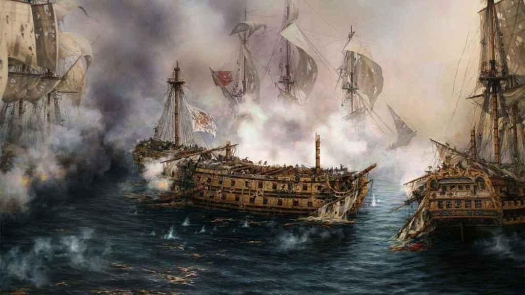 'El último combate del Glorioso', un cuadro de Augusto Ferrer-Dalmau.