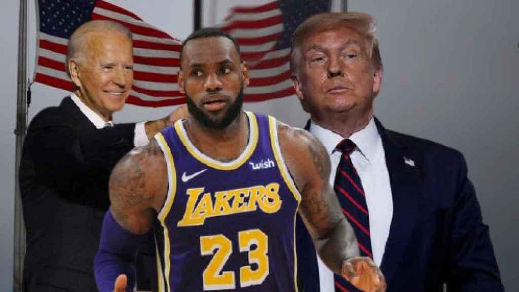 Biden, LeBron James y Donald Trump