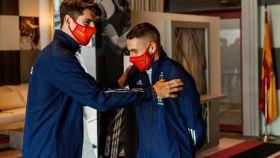 Morata y Koke, con la Selección