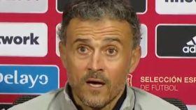 Luis Enrique, en rueda de prensa con la selección española