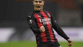 Brahim celebra un gol con el Milan
