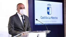 Juan Camacho, director general de Salud Pública de Castilla-La Mancha, este lunes en rueda de prensa. Foto: Óscar Huertas
