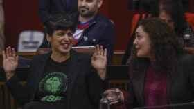 La portavoz parlamentaria de Adelante Andalucía, Inmaculada Nieto, y Teresa Rodríguez en una imagen de archivo.