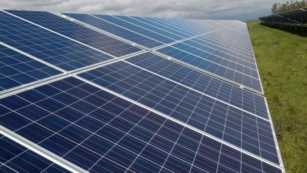 Una placa solar