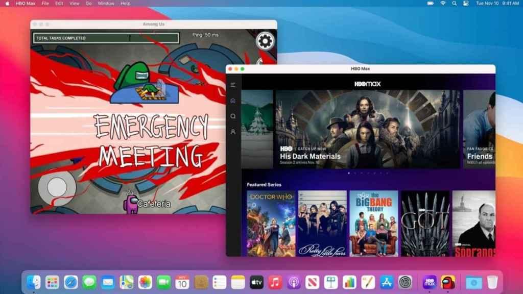 MacOS Big Sur ejecutando aplicaciones de iOS