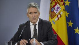 El ministro del Interior, Fernando Grande-Marlaska, en la rueda de prensa posterior al Consejo de Ministros