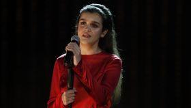 Amaia Romero durante su actuación en la gala de los Premios Goya 2019.