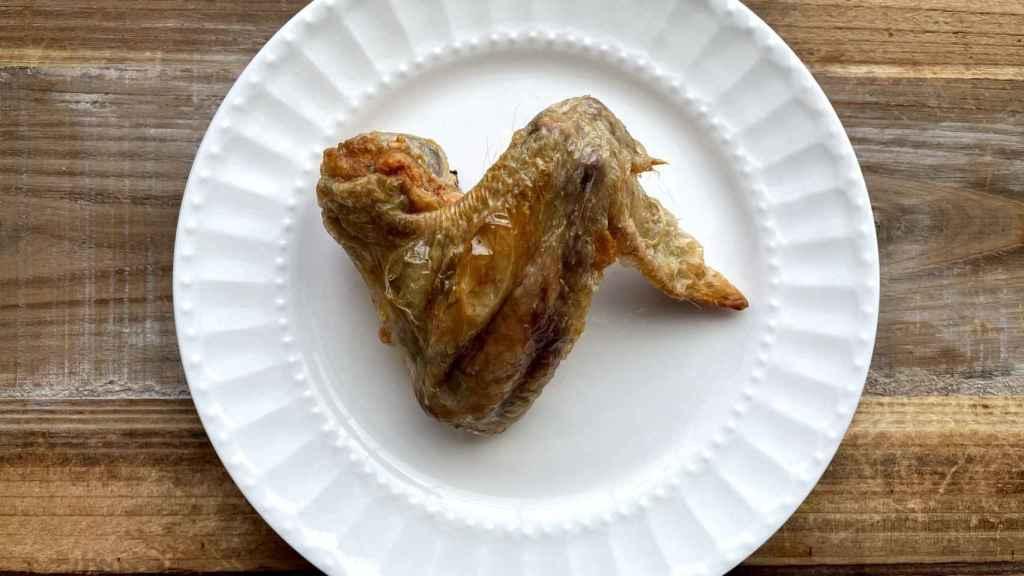 Alitas de pollo fritas sin aceite