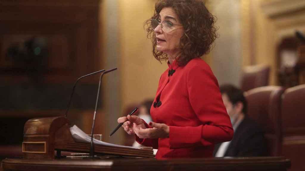 María Jesús Montero, ministra de Hacienda, este miércoles en el Congreso de los Diputados.