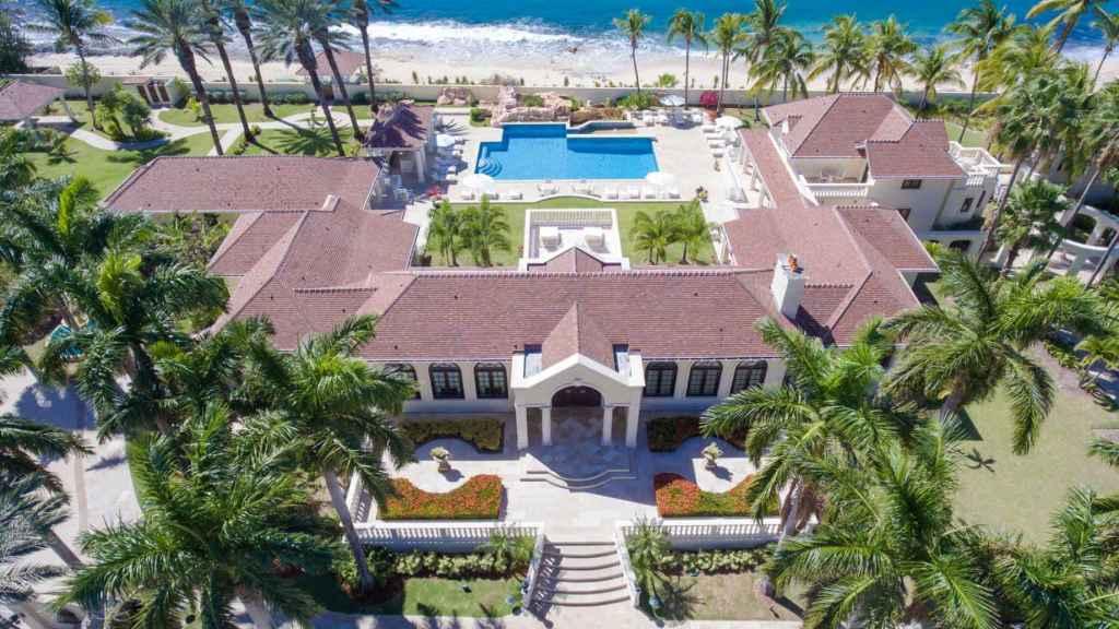 El complejo que alquila Donald Trump en la isla de Saint-Martin.