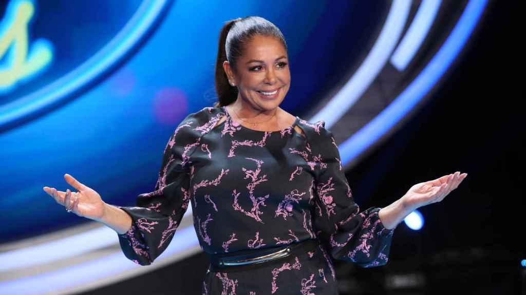 Isabel Pantoja en una imagen tomada el día de la presentación ante los medios de 'Idol Kids'.