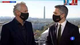 Lorenzo Milá y Carlos Franganillo juntos en Washington hace unos días.