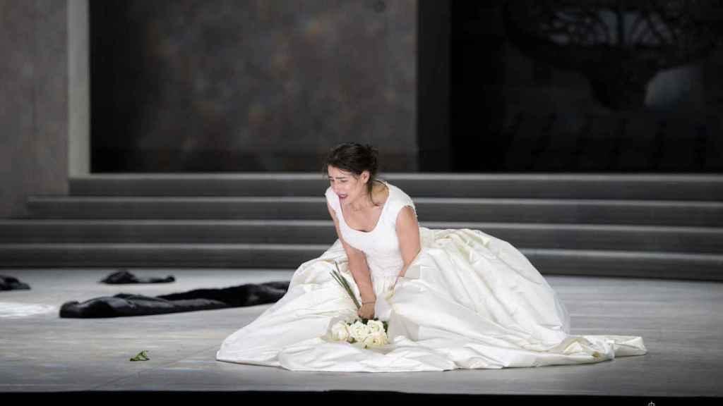 La soprano Asmik Gregorian, en uno de los ensayos de 'Rusalka'.