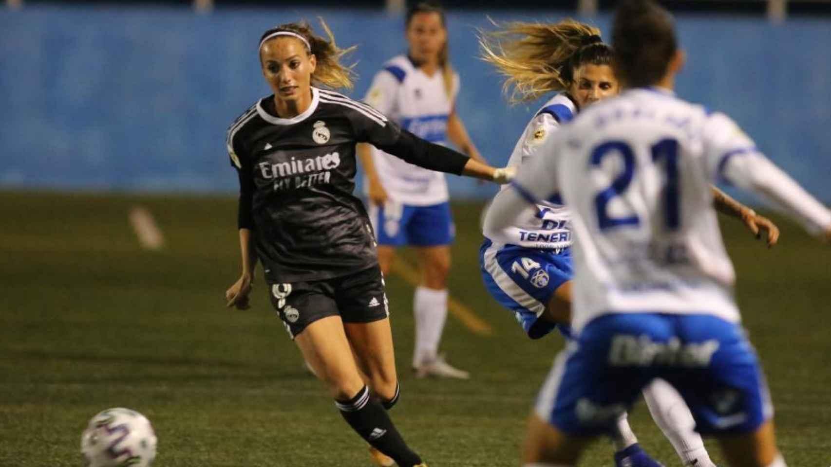 Kosovare Asllani, en el Granadilla - Real Madrid Femenino de la Primera Iberdrola