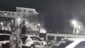 Un instante de la intervención policial