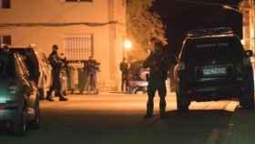 Despliegue policial la noche en la que Norbert Feher asesinó en Andorra (Teruel).