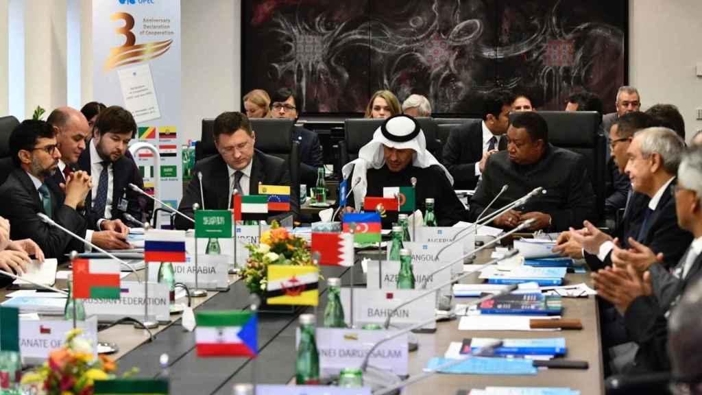 Una imagen de archivo de una reunión de la OPEP.