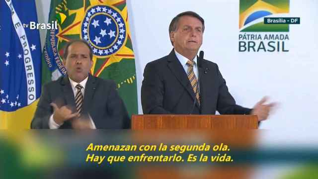 Bolsonaro exige a Brasil dejar de ser un país de maricas por temor a la Covid