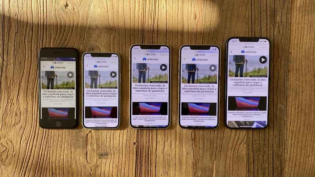 Los iPhone lanzados este año: SE, 12 mini, 12, 12 Pro, 12 Pro Max. (i-d)