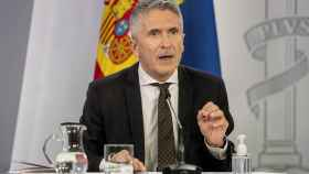 Fernando Grande-Marlaska, ministro del Interior, en la rueda de prensa ofrecida este martes tras el Consejo de Ministros.