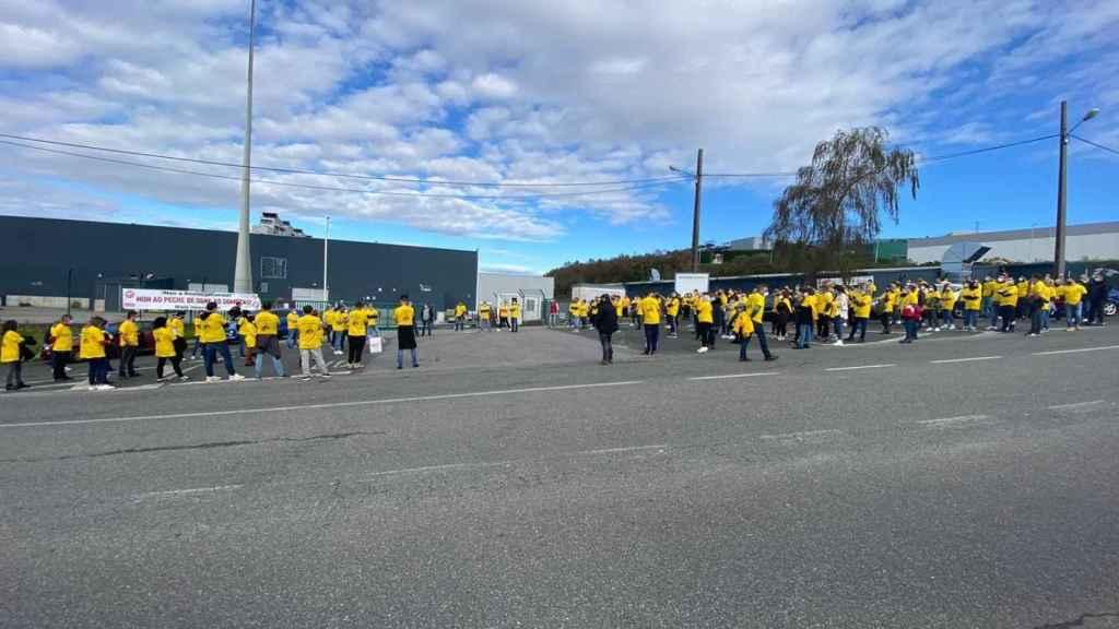 Manifestación en la planta de palas de Somozas de Siemens Gamesa