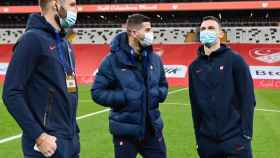 Jugadores de Croacia antes de enfrentarse a Turquía