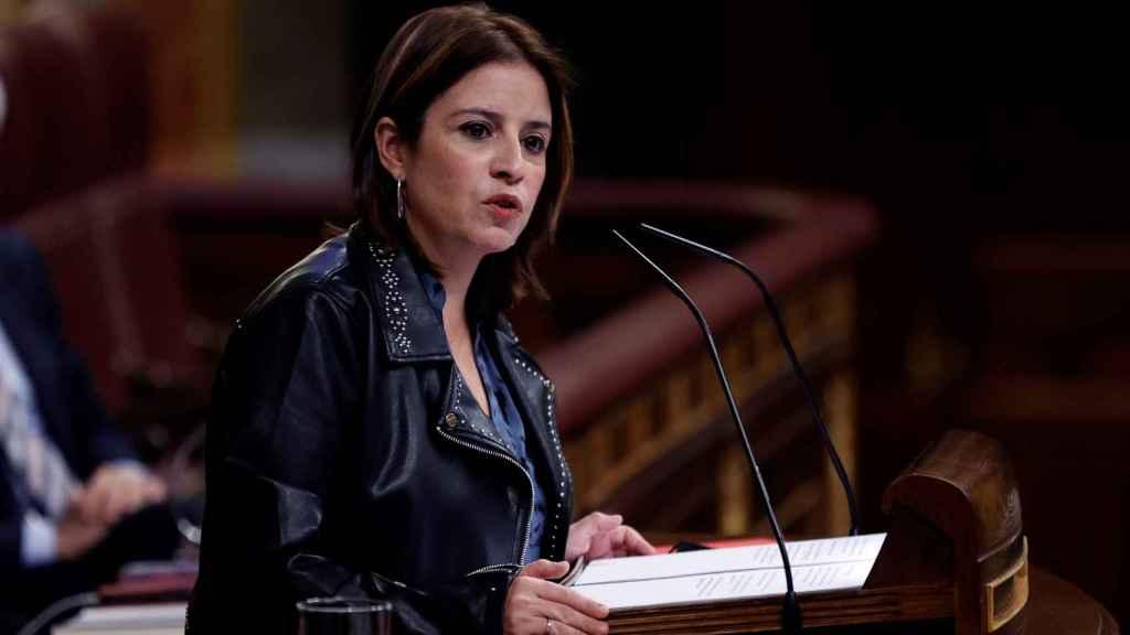 Adriana Lastra, portavoz del PSOE en el Congreso, en el debate de Presupuestos.