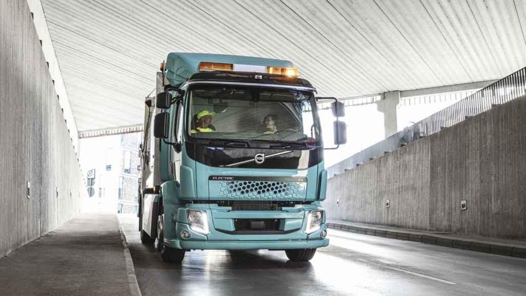 Uno de los camiones de Volvo, empresa que ha participado en esta investigación.