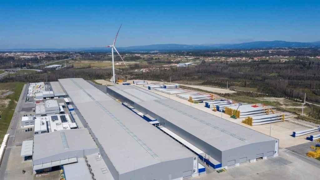 La fábrica gallega de Siemens Gamesa en As Somozas.