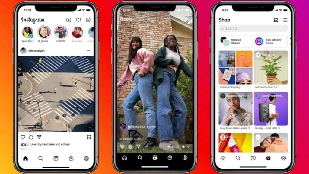 La app de Instagram, con cambios para acceder a Reels más fácilmente