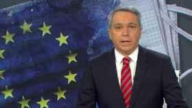 Vicente Vallés en una captura del vídeo de su informativo en Antena 3 Noticias.
