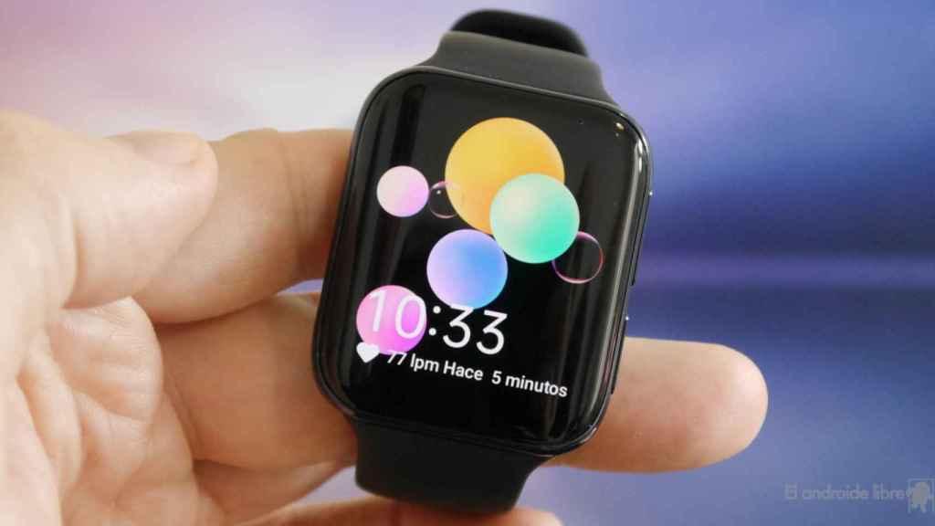 El Oppo Watch tiene un diseño similar al Apple Watch.