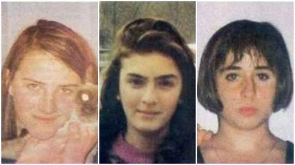 Desirée, Miriam y Toñi, de izquierda a derecha, las menores que desaparecieron en noviembre de 1992.
