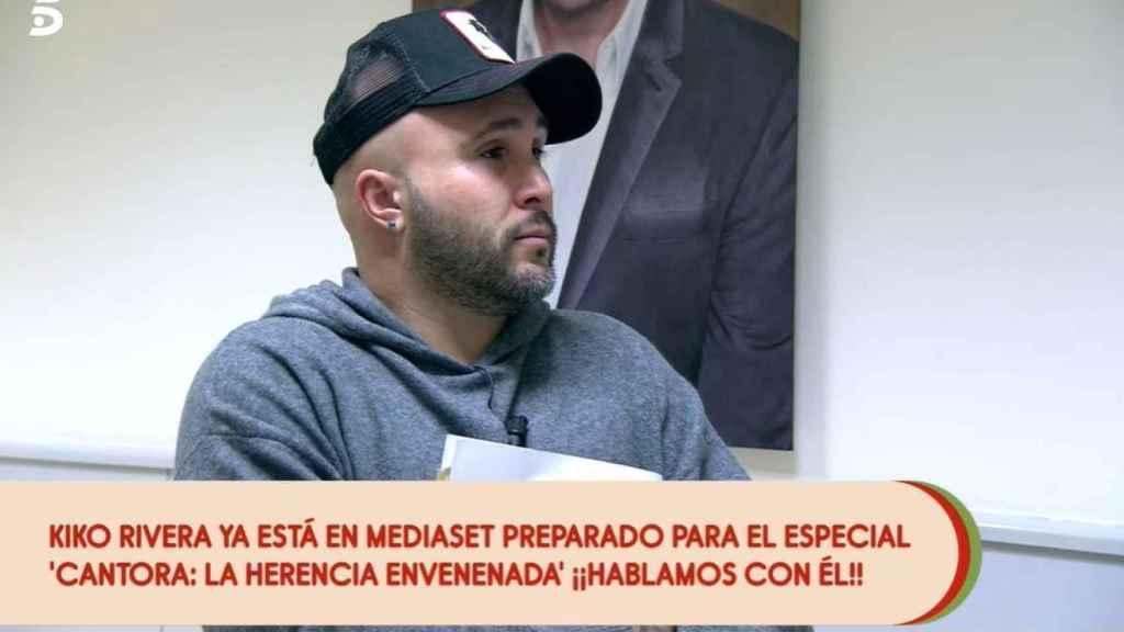 Kiko Rivera hablando con Carlota Corredera en 'Sálvame Tomate'.