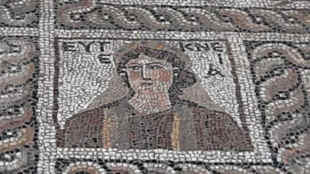 El mosaico hallado en la ciudad de Flaviapolis.