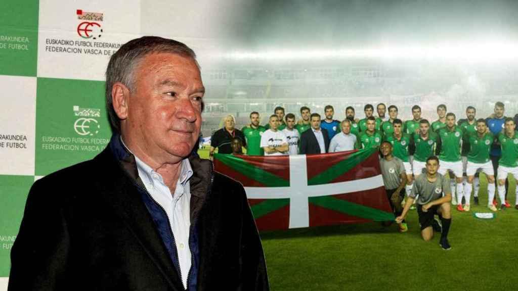 Javier Clemente y la selección de Euskadi