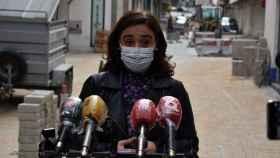 Pilar Zamora, alcaldesa de Ciudad Real, ha visitado las obras de la calle Montesa