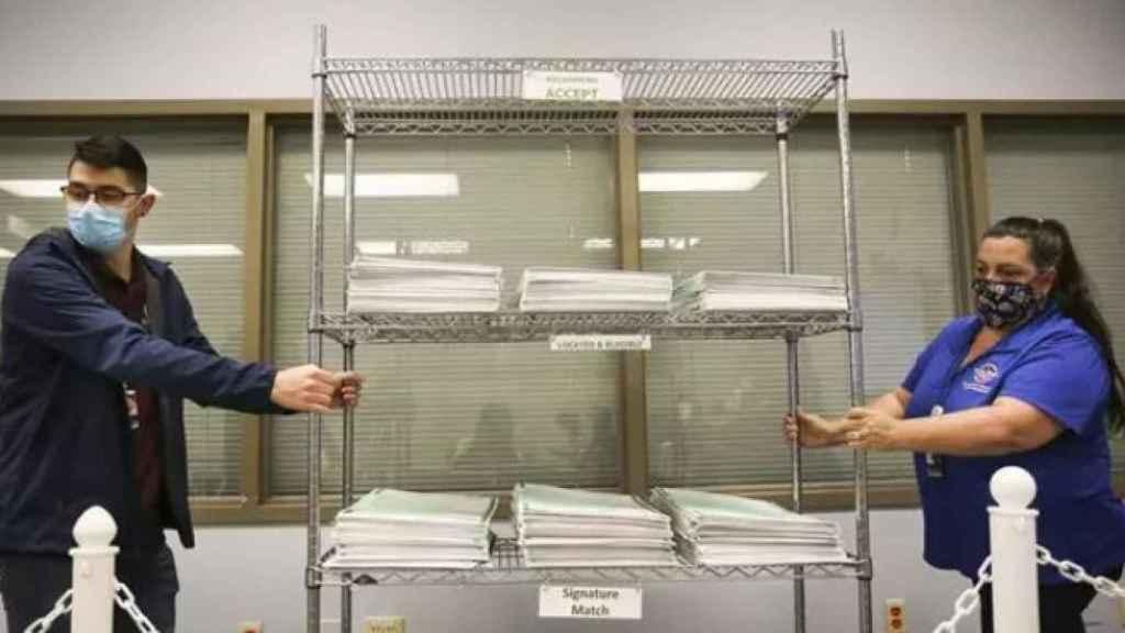 El recuento de votos en EEUU.
