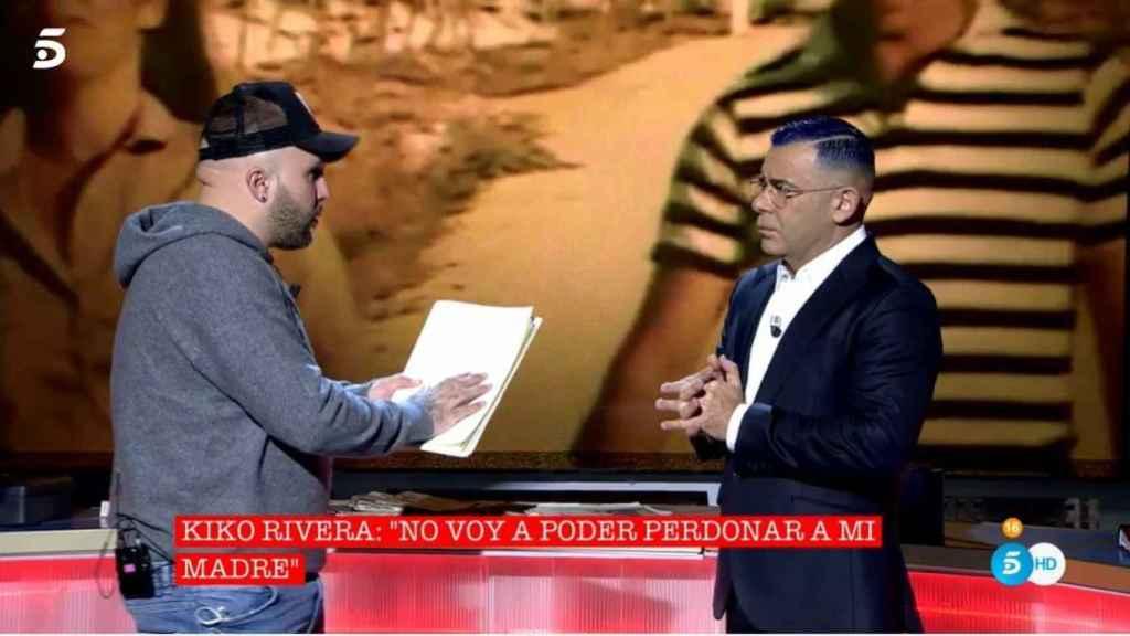 Kiko en el plató junto a Jorge Javier Vázquez.