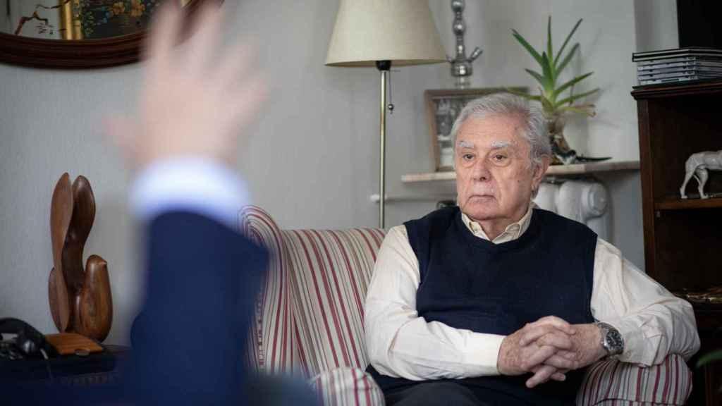 Javier Rupérez, durante la entrevista.