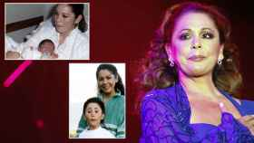 Isabel Pantoja en un montaje de JALEOS junto a su hijo Kiko Rivera.