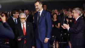 Josep Lluís Vilaseca, junto al rey Felipe VI
