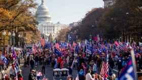 Cientos de manifestantes 11 días después de las elecciones en EEUU