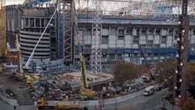 La imagen del parking del nuevo Estadio Santiago Bernabéu durante las obras del mes de noviembre