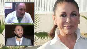 Isabel Pantoja en montaje de JALEOS junto a su hijo Kiko Rivera y el médico Antonio Muñoz Cariñanos.
