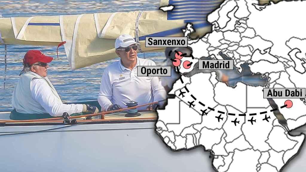 El mapa de los posibles movimientos del emérito.